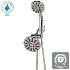6 spray hand shower and showerhead combo kit in chrome
