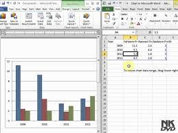 Lesson 47 Insert Chart Microsoft Office Word 2007 2010