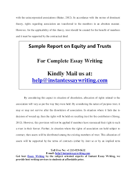 sample on equity and trusts by instant essay writing associated 5