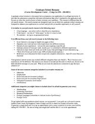 Academic Resume For Graduate School Free Samples Examples