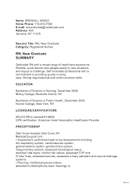 New Nursing Grad Resume Resume Online Builder