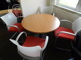knoll dividends table round office furniture best postadsuk with chairs perfect condition amp equipment and full