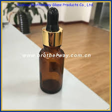 15ml amber glass eliquid bottle with dropper and gold cap