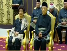 Image result for mahathir's Swearing In Ceremony