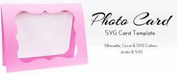 Photo Card Template Photo Card Free Svg Card Template Silhouettecameo