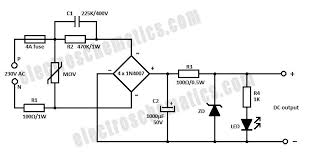 capacitor power supply circuit capacitor power supply circuit
