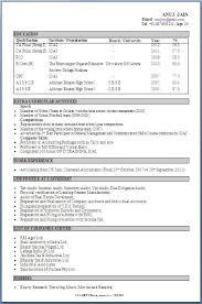 Resume Format For Ece Students Example Good Resume Template