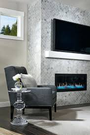 smlf glass tile fireplace mantels mosaic surround floor ceiling model home how to install