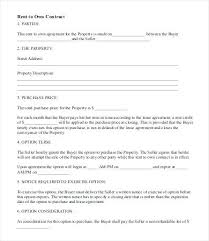 Lease To Buy Agreement Template Awesome Rent Printable To Own Lease Agreement Housing Contract Forms