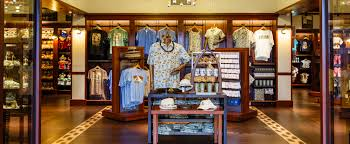 disney themed resort wear mugs and jewelry displays inside kalepa s the aulani
