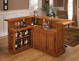 Two Tiers Corner Bar Cabinet Design Aside Ergonomic Reading Nook - Home bar cabinets design