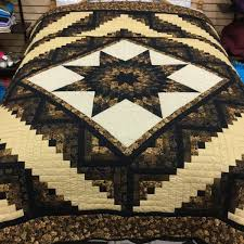 Log Cabin Lone Star Quilt Handmade by Amish | Family Farm Handcrafts & Log Cabin Lone Star Quilt- queen. ï??; ï?? Adamdwight.com