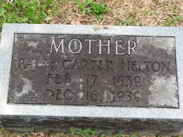 Patsy Carter Helton (1859-1939) - Find A Grave Memorial