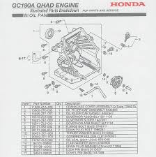 honda gc190 engine parts gc 190 sectional breakdowns