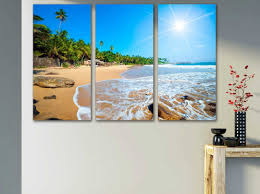 displaying gallery of canvas wall art beach scenes view 6 of 15 photos