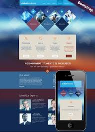 Global Solutions Website Template Business Company Bootstrap
