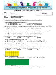 Soal kelas 6 tema 1 subtema 3 paket a. Soal Tematik Kelas 3 Sd Tema 6 Subtema 4 Penghematan Energi Dan Kunci Jawaban