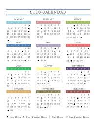 2016 Moon Calendar The Walden Moon