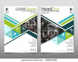 green triangle annual report brochure flyer design template vector leaflet cover presentation abstract flat background layout in a4 size