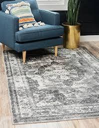 unique loom sofia collection traditional vine gray area rug 8 x
