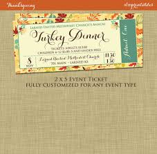Lunch Ticket Template Classy Fall Festival Event Ticket Harvest Thanksgiving Invitation Poster
