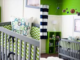 Navy and Green Nursery. I can totally see this being your baby nursery one  day! Loving the navy blue and green for baby boys nursery!