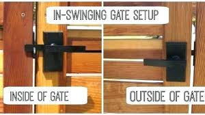 wood fence gate latch wood gate latch opens both sides useful wood fence gate latch open