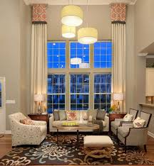 Image High Ceiling Symmetry And Design Go Long Way Window Treatments For High Windows Pinterest Treatments For High Windows Tall Windows High Windows