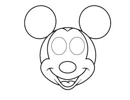 mickey head template printable minnie mouse head template noshot info
