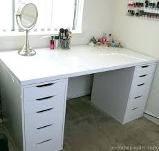 desk 12 ikea makeup storage ideas youll love white desk with side drawers corner desk
