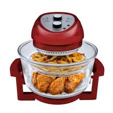 16 qt convention countertop oil less oven in red