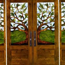stained glass front door needed color