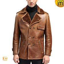 fur lined leather jacket for men cw868901 jackets cwmalls com
