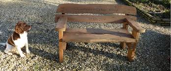 rustic garden bench garden table benches personalised garden bench memorial bench