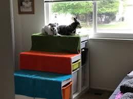 repurpose furniture dog. DIY Dog Window Perch With Steps Repurpose Furniture