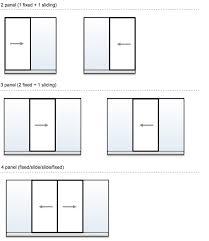 3 panel sliding glass door dimensions designs