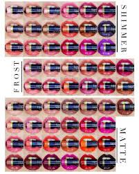 Lipsense Color Collage With Tube Chart Lipsense Color