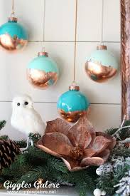diy painted ornaments with gold leaf