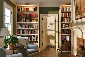 bookcase lighting ideas hall traditional with family room summer home bookcase lighting ideas