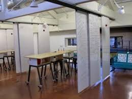 collaborative office space. i like this idea of rails with movable curtainswalls to section places d schoolcollaborative spacework spacesoffice collaborative office space