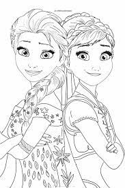 Colorați personajele iubite în creion sau vopsele. Frozen 2 Coloring Pages Elsa And Anna Coloring