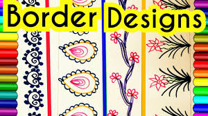 Border Patterns Magnificent How To Decorate Borders Of Project Files Attractive Borders For