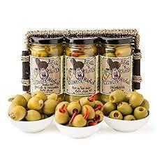martini olives gift pack 3 jars