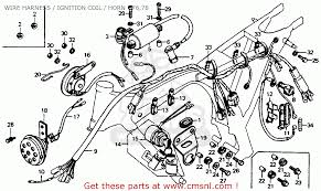 honda cb125s 1978 usa wire harness ignition coil horn 76 78 view large image