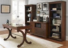 brookview 2 piece home office set in rustic cherry finish by liberty furniture lib 378 ho home office furniture cherry finished