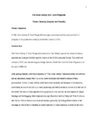 the great gatsby essays analytical essay of the great gatsby page  essay the great gatsby theme honesty integrity and morality showing page 1 7