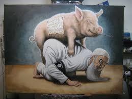 a disgusting beast by a pig paintings by vig