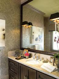 wood framed bathroom mirrors. Bathroom Mirror Decor Great Frame Ideas Eclectic With Wood Framed For Stone Mirrors . L