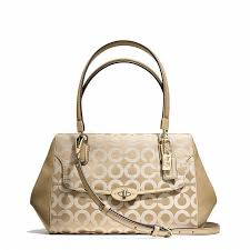 Coach Madison Small Madeline East West Satchel In Op Art Sateen Fabric on  shopstyle.