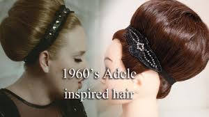 You Tube Hair Style 1960s adele inspired hair style by yasmine alom youtube 6626 by wearticles.com
